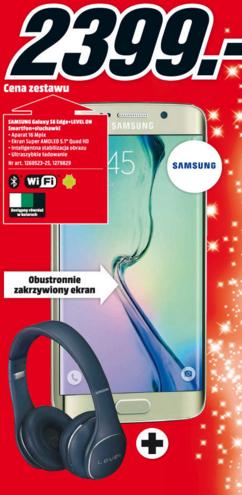 Samsung Galaxy S6 Edge (32GB) + słuchawki Level On za 2399zł @ Media Markt