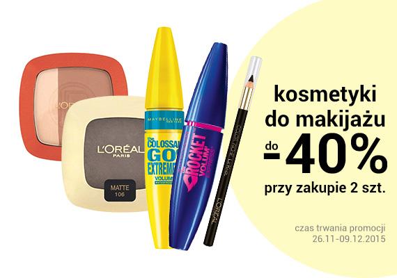 Do -40% przy zakupie dwóch produktów do makijażu @ Natura