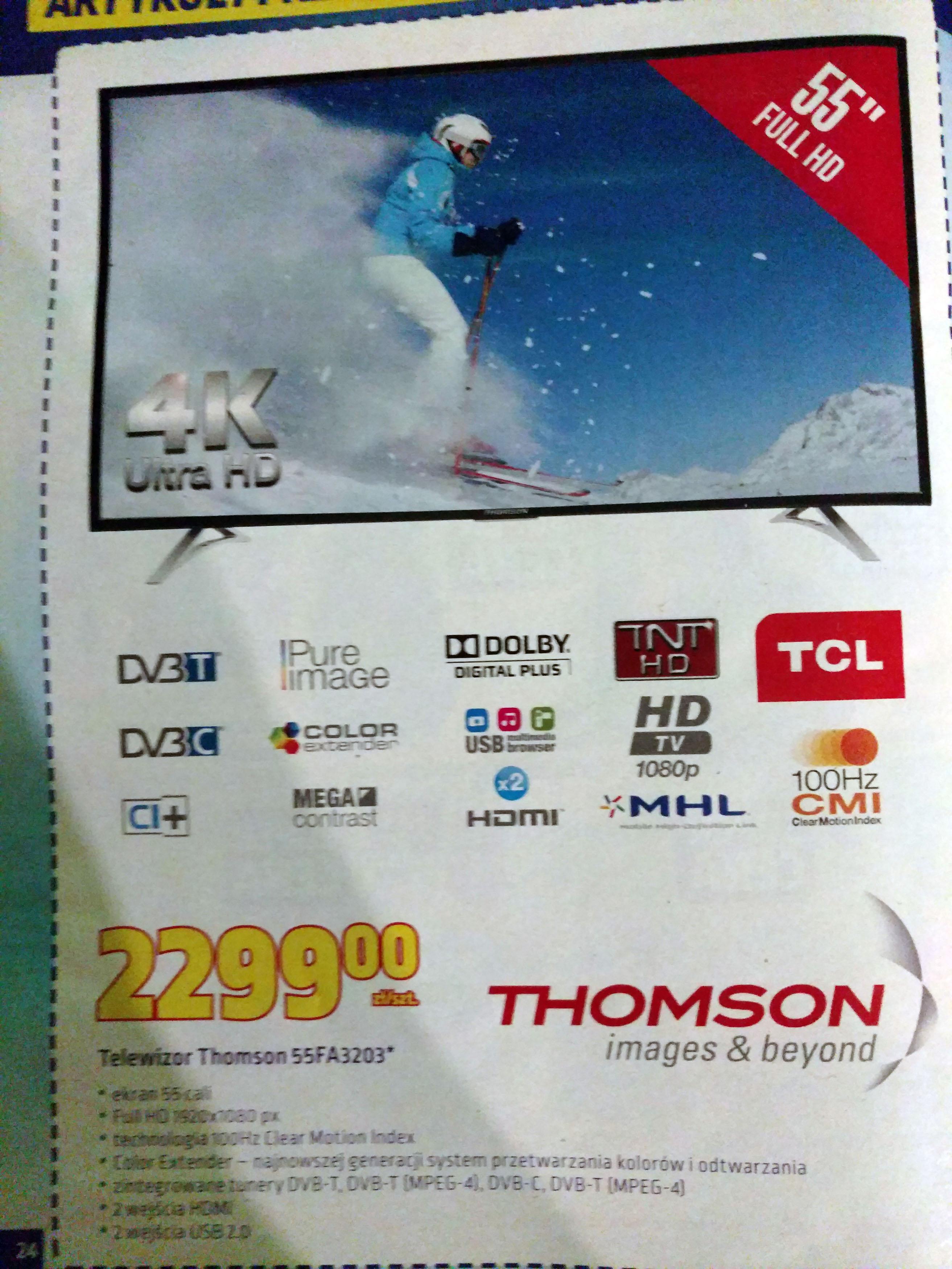 Telewizor Thomson 55FA3203 za 2299zł @ Biedronka