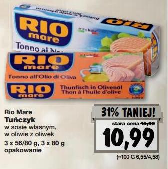 3 puszki tuńczyka Rio Mare za 10,99zł! @ Kaufland