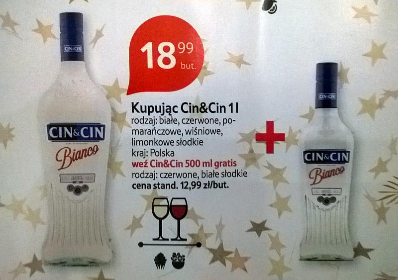 TESCO CinCin 500ml ZA DARMO przy zakupie CinCin 1 litr