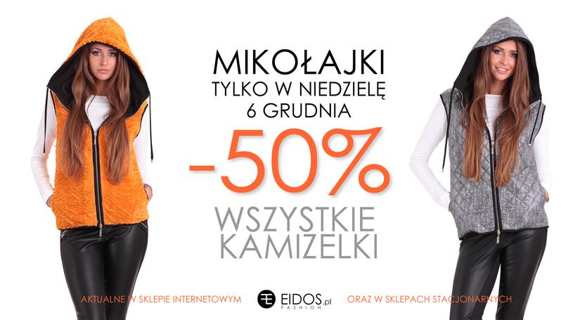 Tylko w mikołajki - 50% na kamizelki @ EIDOS