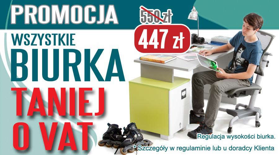 Wszystkie biurka taniej o VAT!! @ Meblik