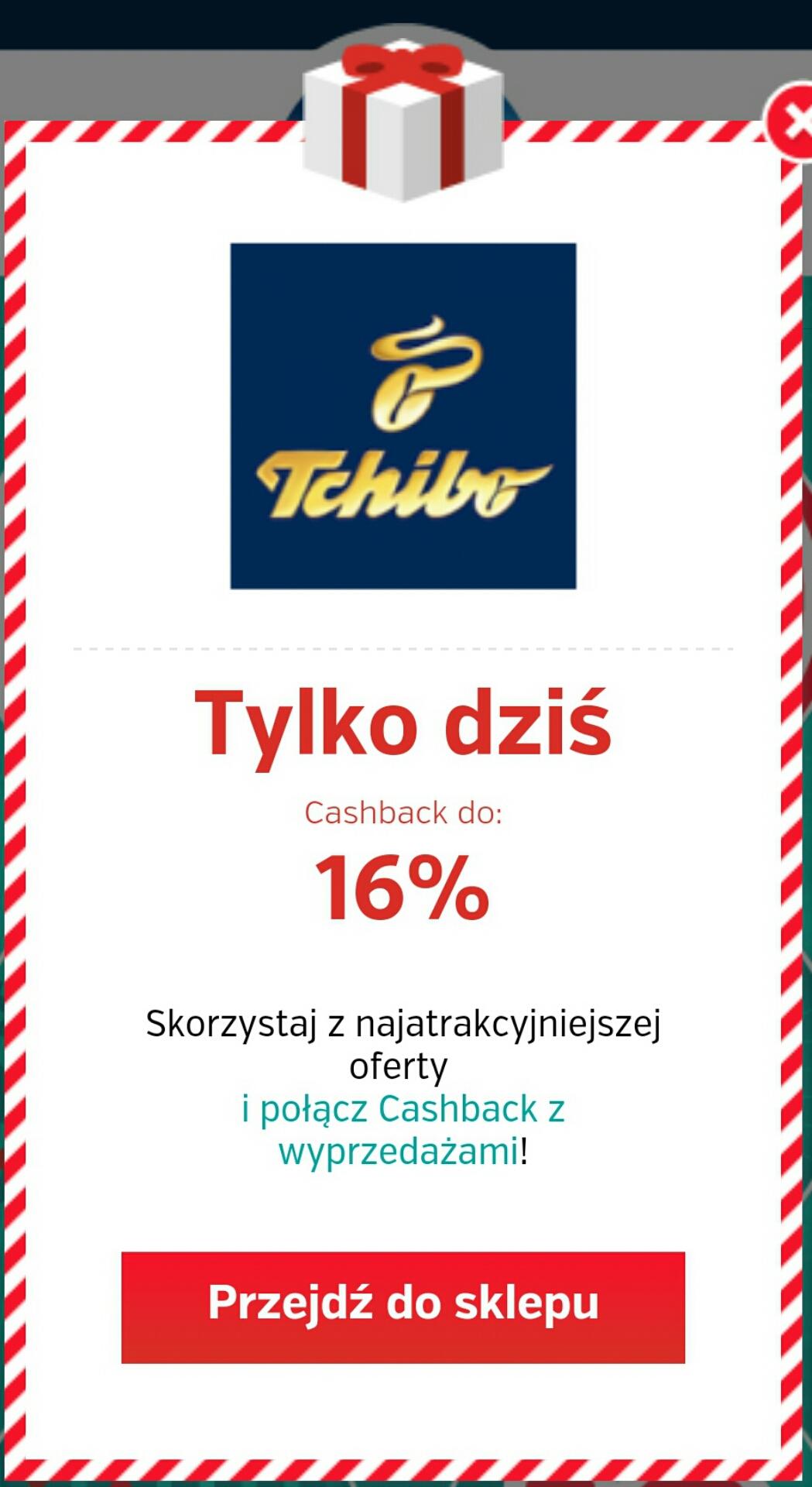 Tchibo cashback 16% @ PlanetPlus