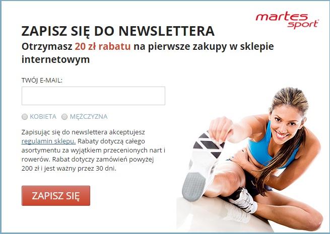 Rabat 20zł na zakupy za 200zł w sklepie Martes