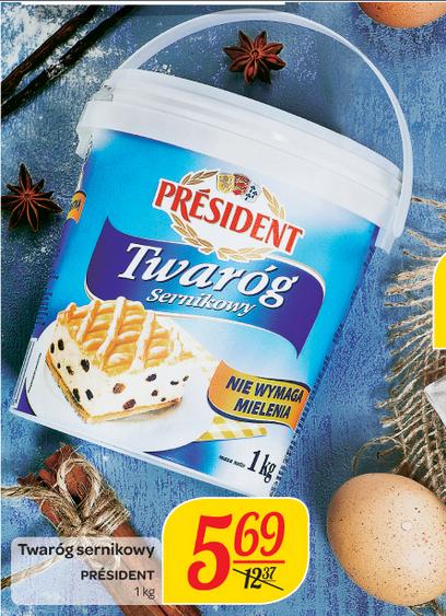 Twaróg sernikowy President 1kg za 5,69zł @ Carrefour