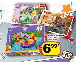 Puzzle Trefl z motywami z bajek Disneya 30elementów w cenie 6,99zł @ Żabka