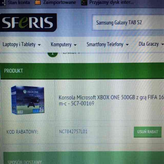 Xbox One + FIFA 16 z -200zł @ Sferis