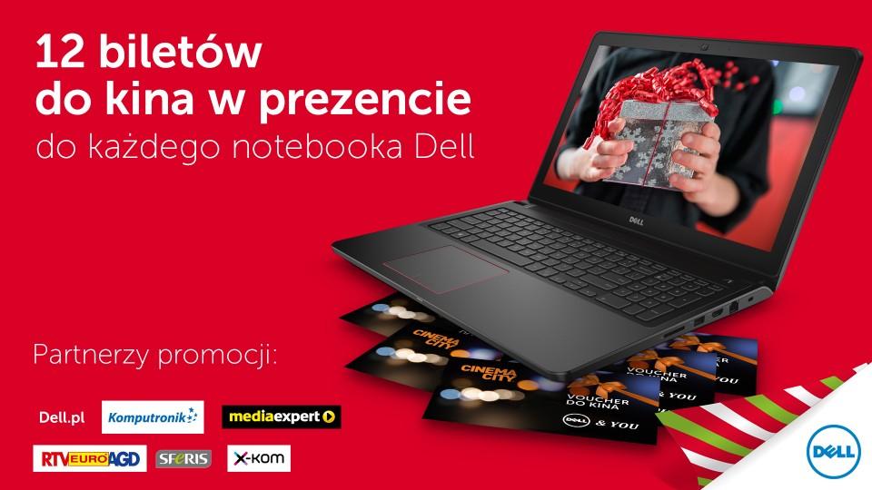 12 biletów do kina GRATIS przy zakupie laptopów Dell