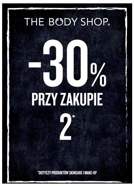 30% rabatu przy zakupie dwóch kosmetyków z wybranego asortymentu @ The Body Shop