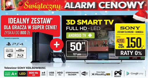 TV Sony KDL-50W805C + konsola PS4 w cenie 4200 zł @ NEONET
