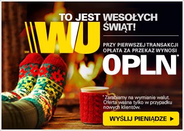 Western Union 0 zł za przekaz