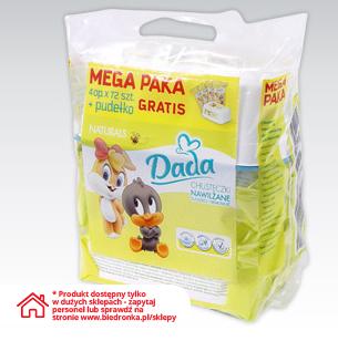 Mega Paka chusteczek nawilżanych Dada, 4x opak.+pudełko