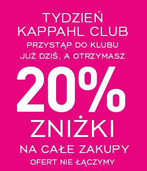 20% zniżki na zakupy po przystąpieniu do Klubu @ KappAhl