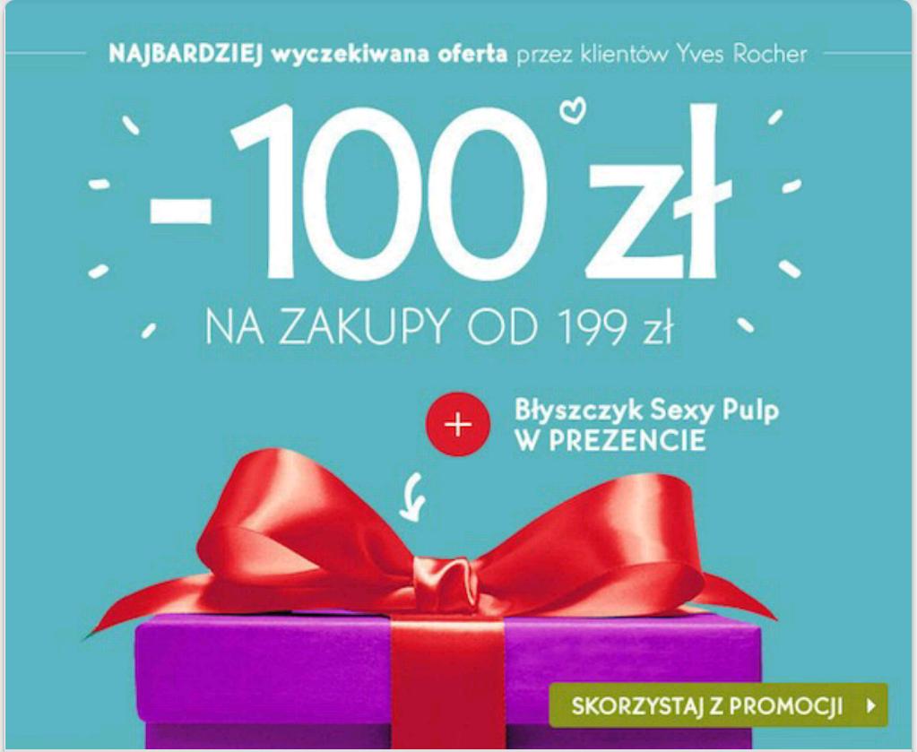 -100zł + BŁYSZCZYK + prezenty @YVES ROCHER do 13.12
