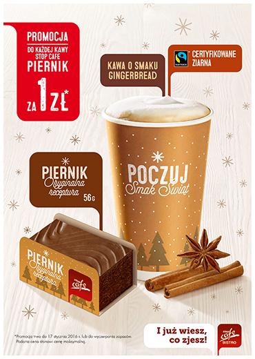 Przy zakupie kawy piernik za 1zł @ Orlen
