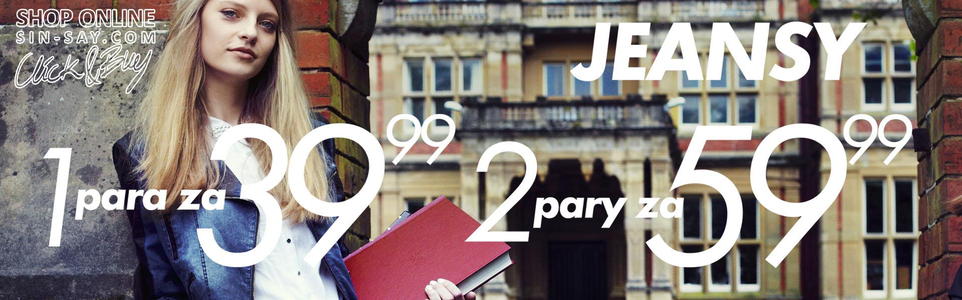 Jeansy - 1 para za 39,99zł, 2 pary za 59,99zł @ Sinsay
