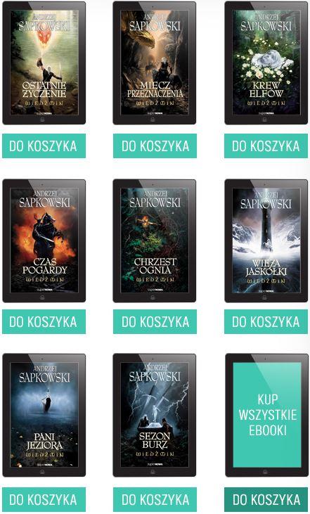 Cała saga o Wiedźminie w formie ebooka najtaniej w historii