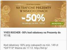 -50% + prezenty @YVES ROCHER do 17.12