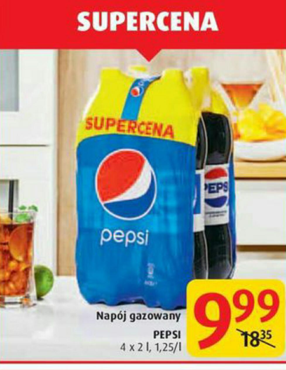 Pepsi 4x2l za 10zł w Carrefour
