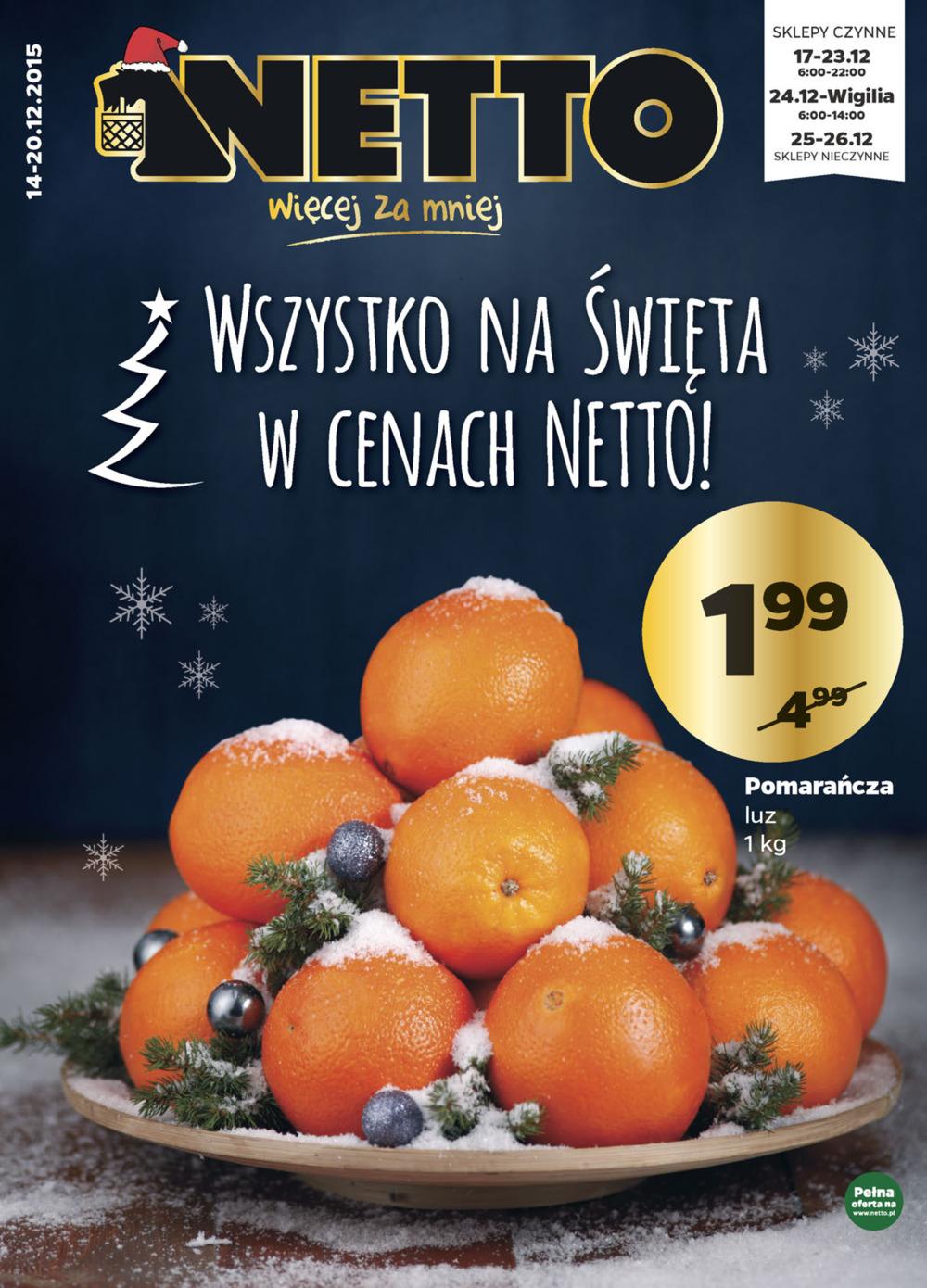 Pomarańcze za 1,99zł/kg @ Netto