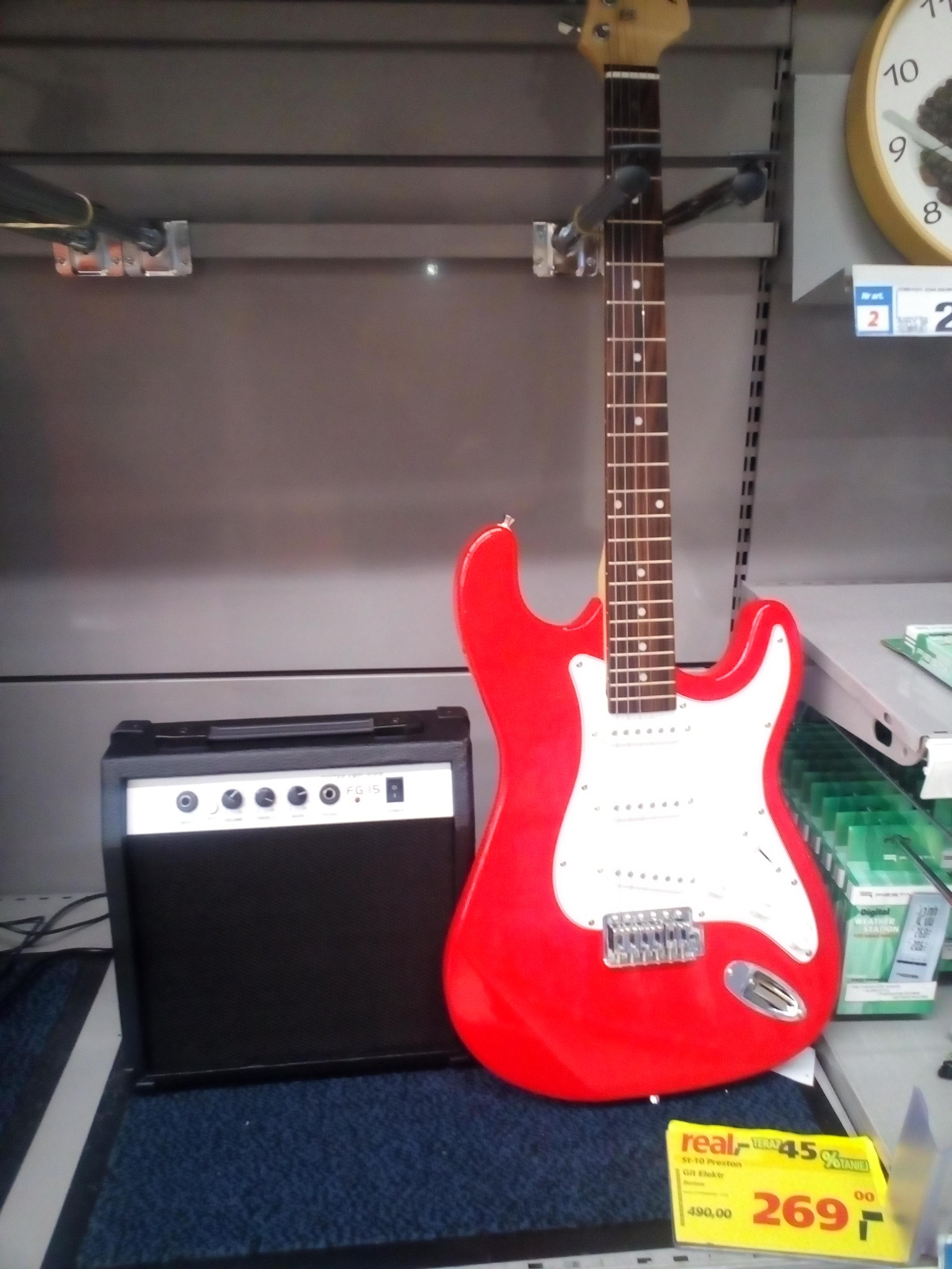 Gitara elektryczna + piec za 269zł @ Real
