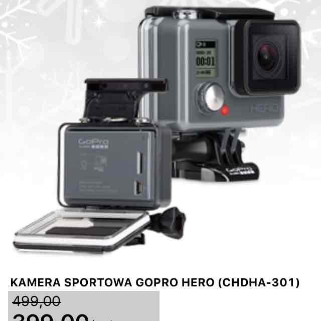 kamera gopro hero w Biedronce 18.12 za 399 zł