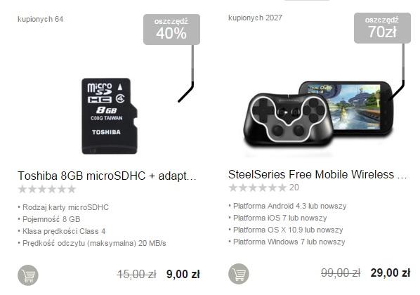 X-kom strefa okazji na laptopy,joysticki,karty pamięci itd! KOD:OKAZJA
