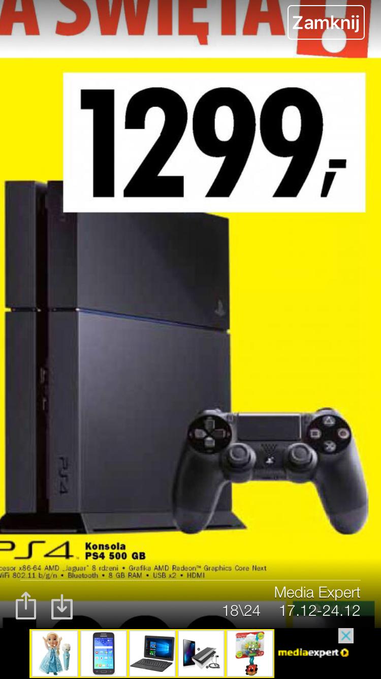 PS4 500GB Media Expert