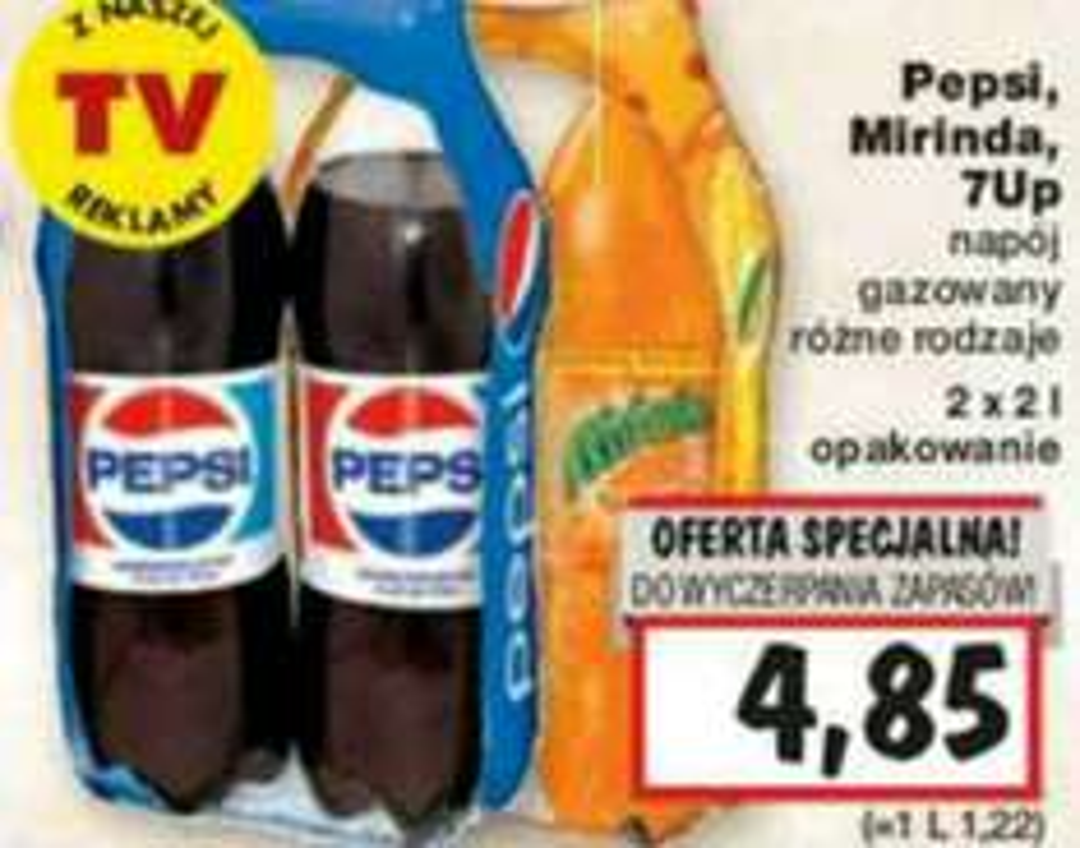 Pepsi 2x2l za 4,85zł w Kaufland (1,22zł/l)