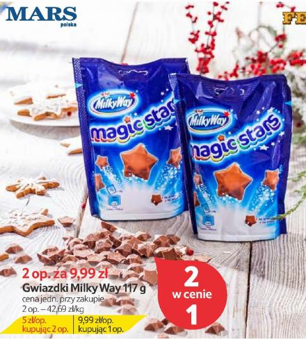 2 w cenie 1 opakowania gawiazdek Milky Way Magic Stars @ Tesco