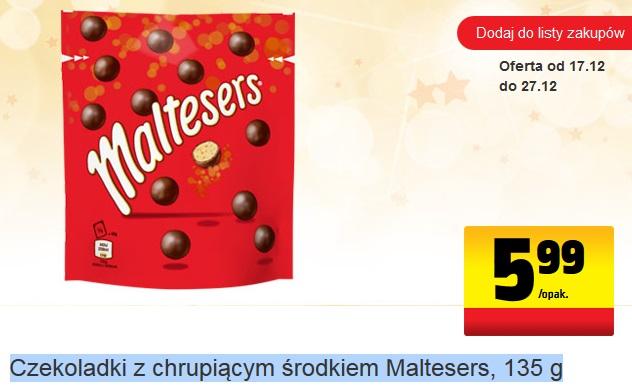 Czekoladki z chrupiącym środkiem Maltesers, 135 g