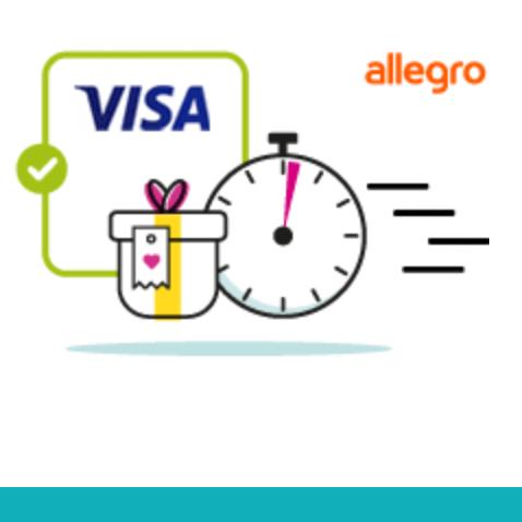 Płać kartą Visa i odbierz kupon na 20 zł @ Allegro