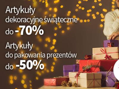 artykuły świąteczne oraz do pakowania prezentów Rossmann