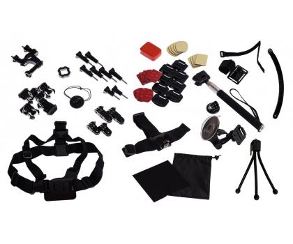 Zestaw akcesoriów do kamerki sportowej Shiru (63 elementy) za 89zł @ X-kom