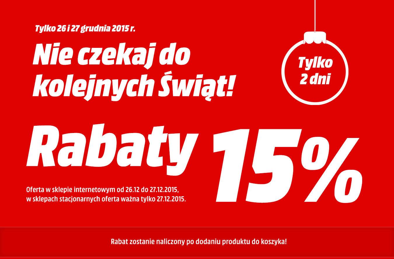 Rabaty 15% - Media Markt