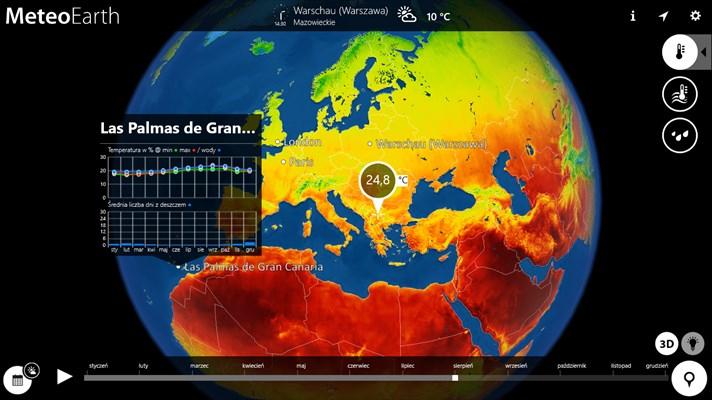 Aplikacja pogodowa MeteoEarth ZA DARMO (cena regularna 17,50zł) @ Microsoft