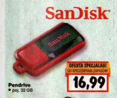 Pendrive SanDisk 32 GB @ Kaufland