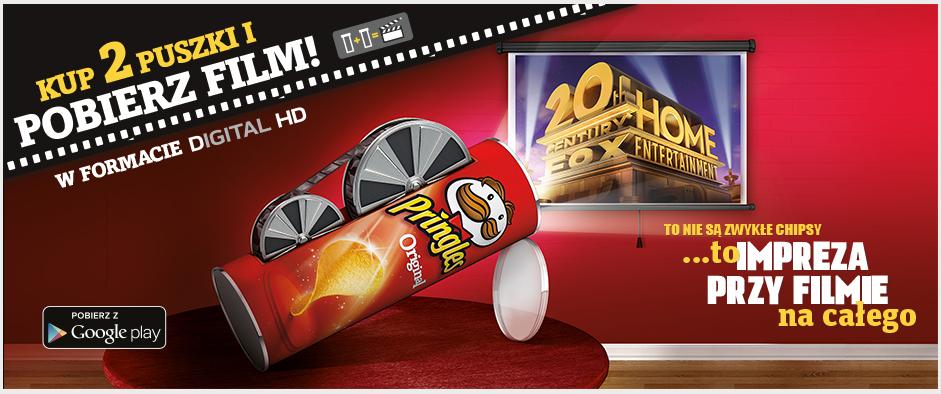 Film do pobrania za kody z 2 puszek @ Pringles