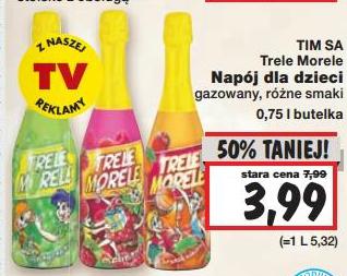 Bezalkoholowy szampan dla dzieci Trele Morele w cenie 3,99zł / 0,75l @ Kaufland