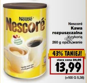 Nestle Nescore 260g za 13,99zł @ Kaufland
