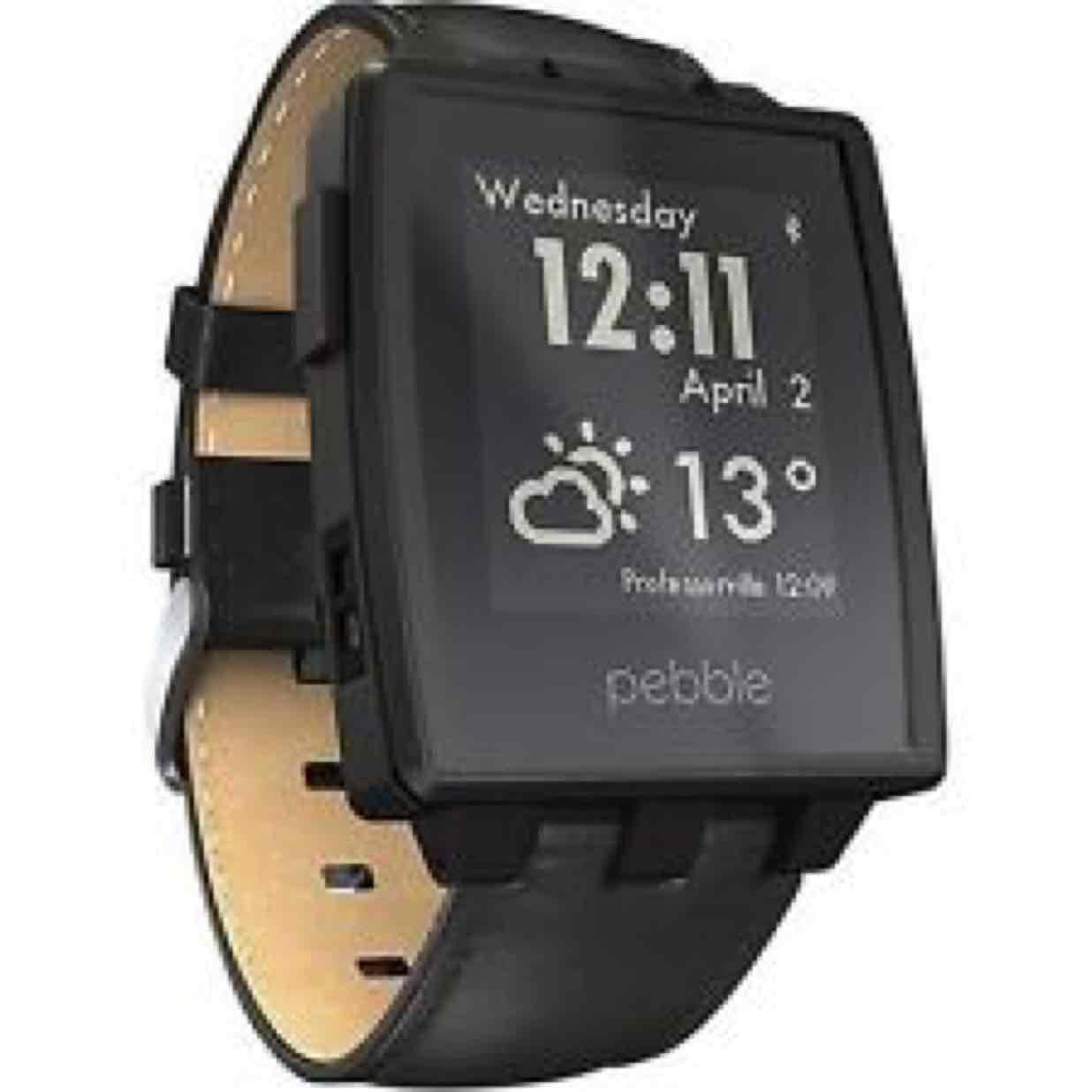Inteligentny Zegarek Pebble Steel Smart Watch - Matte Czarny (Skórzany Pasek) @ Amazon.uk