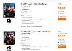 Lords Of The Fallen Edycja Limitowana [PlayStation 4/Xbox One za 99,90zł, PC za 39,90zł]  @ Saturn