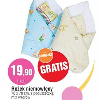 Rożek niemowlęcy za 19,90zł + poduszka GRATIS @ E.Leclerc