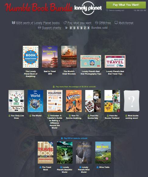 Pakiet książek (ebooków) Lonely Planet za tyle ile chcesz @ Humble Bundle