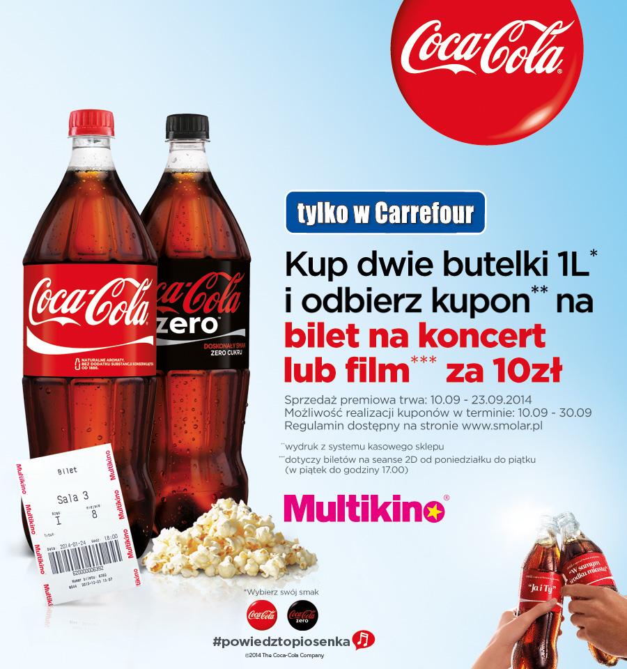 Kup Coca-Colę i odbierz bilet do Multikina za 10zł @ Carrefour