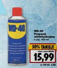 Preparat wielofunkcyjny WD-40 w cenie 15,99zł za 400ml @ Kaufland