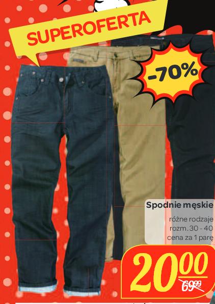Spodnie męskie za 20zł (przecena z 69,99zł ) @ Carrefour