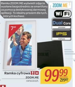 """Ramka cyfrowa Zoom.Me 7"""" z Wifi za 99,99zł @ Carrefour"""