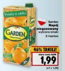 Napój Garden 2 l poniżej 2 zł